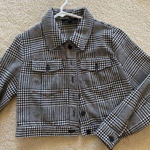midi gingham jacket